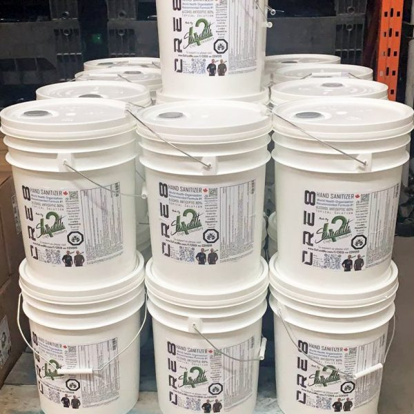 20L Pails of Cre8 Hand Sanitizer